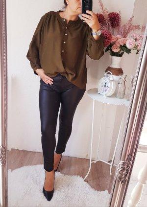 mango bluse khaki braun grün XL NEU