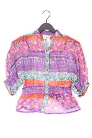 Mango Blusa lila-malva-púrpura-violeta oscuro Seda