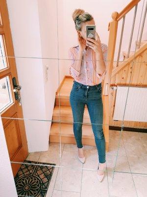 Mango Bluse mit Streifen in orange, Blogger