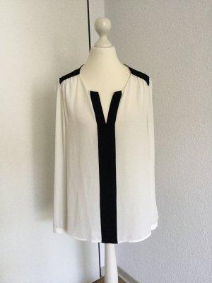 Mango Bluse schwarz / weiß Gr. 36 / S