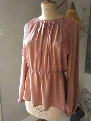 Mango Blusa in merletto color oro rosa-rosa antico Viscosa