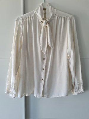 Mango Tie-neck Blouse natural white