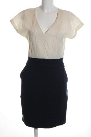 Mango Blusenkleid wollweiß-schwarz Business-Look