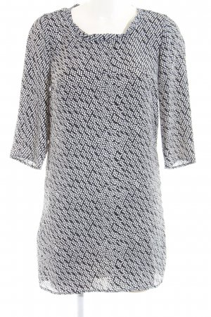 Mango Blusenkleid schwarz-weiß Allover-Druck Casual-Look