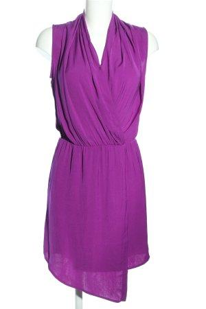 Mango Blusenkleid lila Business-Look