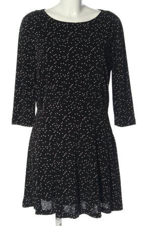 Mango Blusenkleid schwarz-weiß Casual-Look