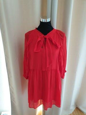 Mango Vestido camisero rojo claro-rojo Poliéster