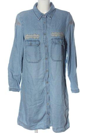 Mango Blusenkleid blau Casual-Look
