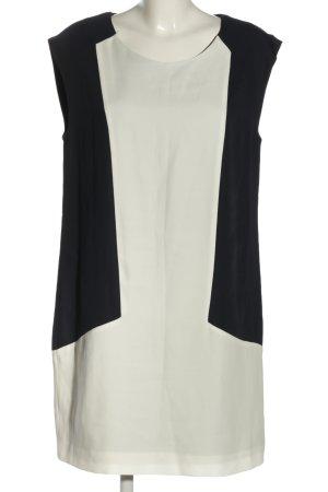 Mango Blusenkleid schwarz-weiß Business-Look