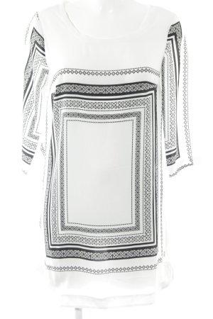 Mango Blusenkleid weiß-schwarz Elegant