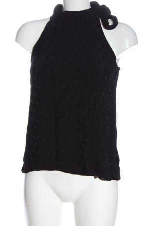 Mango Blouse Top black spot pattern elegant