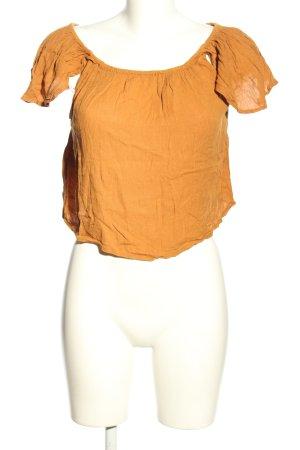 Mango Blouse topje licht Oranje casual uitstraling