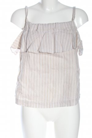 Mango Blouse topje wolwit-wit gestreept patroon casual uitstraling
