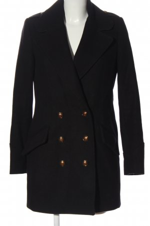 Mango bodenlanger Mantel schwarz klassischer Stil