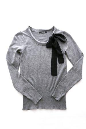MANGO Bodycon Pullover Schleife grau – XS