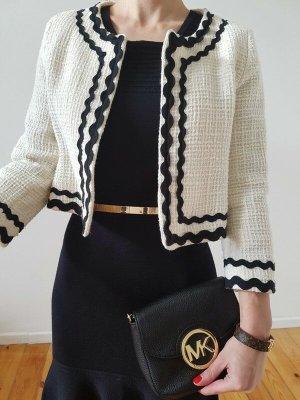 Mango Bolero Jacke 36 38 XS S M weiß knit Wolle Mantel Blazer Cardigan Top Neu
