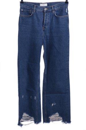 Mango Jeans bootcut bleu style décontracté