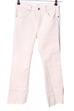 Mango Boot Cut Jeans creme Casual-Look
