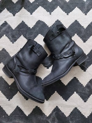 Mango Short Boots black-anthracite leather