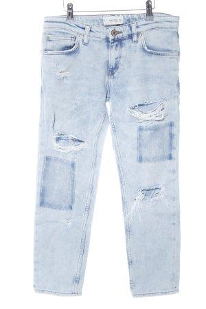 Mango Boyfriendjeans blau Casual-Look