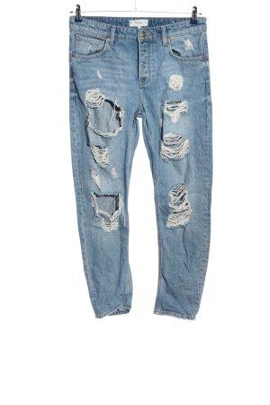 Mango Boyfriend jeans blauw casual uitstraling