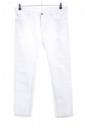 Mango Boyfriend jeans wit casual uitstraling