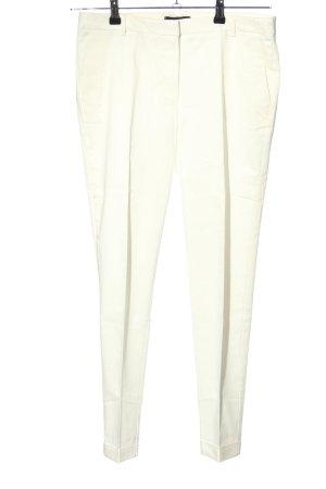 Mango Spodnie z zakładkami w kolorze białej wełny W stylu casual