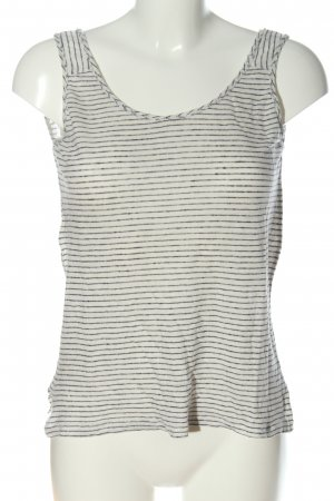 Mango Camisoles white-black striped pattern casual look