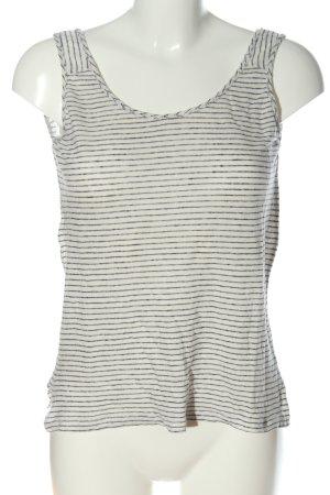Mango Camisole weiß-schwarz Streifenmuster Casual-Look