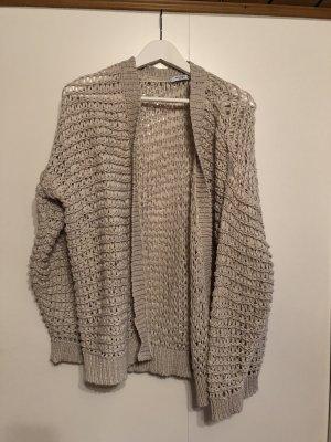 Mango Szydełkowany sweter beżowy-kremowy