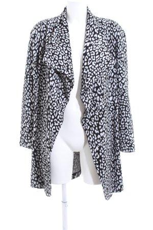 Mango Cardigan schwarz-weiß Animalmuster extravaganter Stil