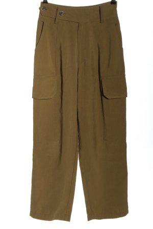 Mango Pantalon cargo brun style décontracté