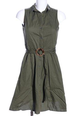 Mango Cargo Dress khaki casual look