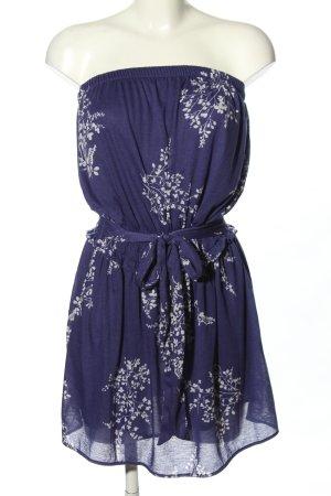 Mango casual Sukienka z dekoltem typu bandeau niebieski-biały W stylu casual
