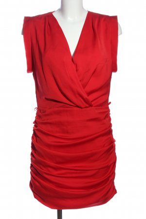 Mango casual Robe crayon rouge style d'affaires