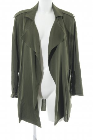 Mango casual Blouse Jacket green grey Metal elements