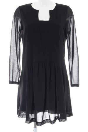 Mango casual Blusenkleid schwarz Elegant
