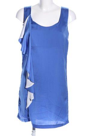 Mango casual Robe chemisier bleu-blanc style d'affaires