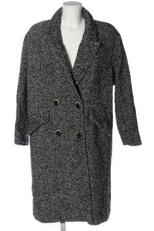 Mango casual Manteau long gris clair-noir imprimé allover style classique