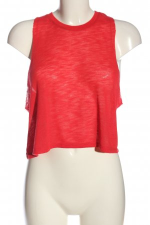 Mango casual Top cut out rojo look casual