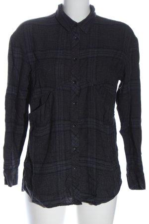 Mango casual Camisa de franela azul-negro look casual