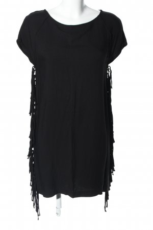 Mango casual Fringed Dress black casual look