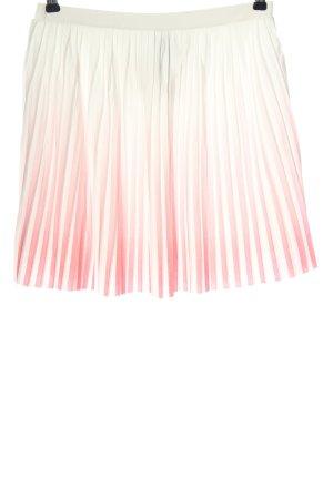 Mango casual Flared Skirt natural white-pink color gradient elegant