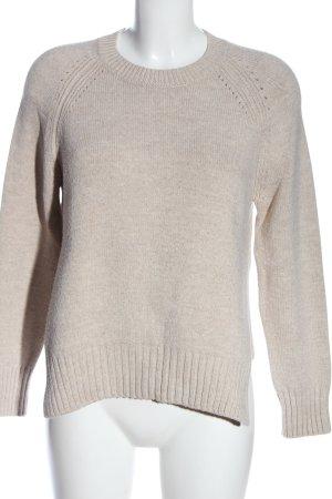 Mango casual Sweter z grubej dzianiny w kolorze białej wełny Melanżowy