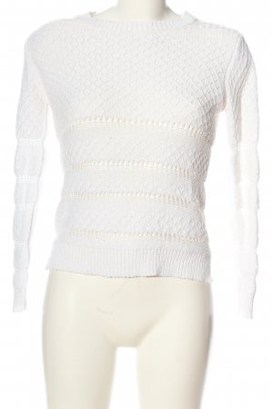 Mango casual Crochet Sweater white casual look