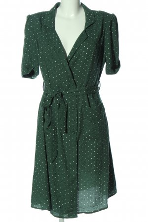 Mango casual Hemdblusenkleid grün-weiß Allover-Druck Casual-Look