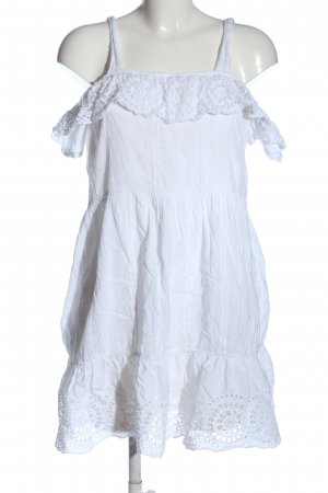 Mango casual Hippie Dress white casual look