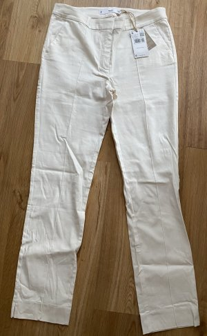 Mango Pantalon en jersey blanc cassé lin