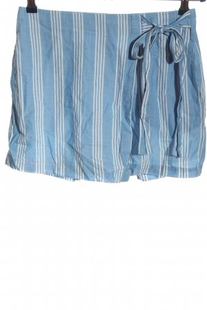 Mango casual Hot Pants blue-white striped pattern casual look