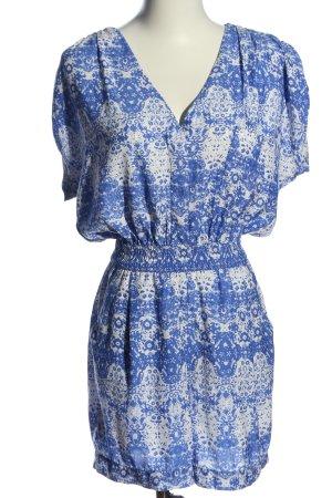 Mango casual Jumpsuit blau-weiß abstraktes Muster Casual-Look